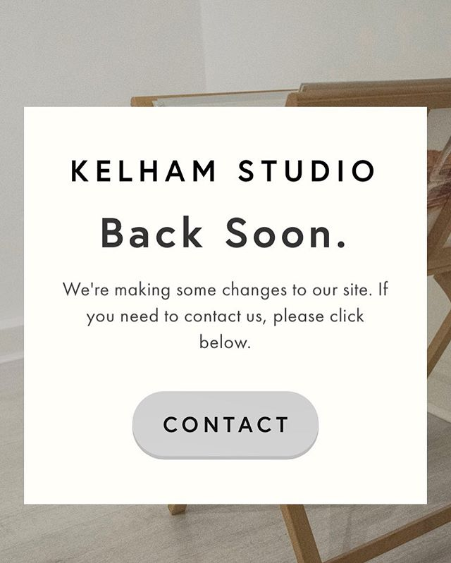 A fresh look's on the way for @kelhamstudio since we're well into 2018. We're looking forward to seeing how this one turns out.