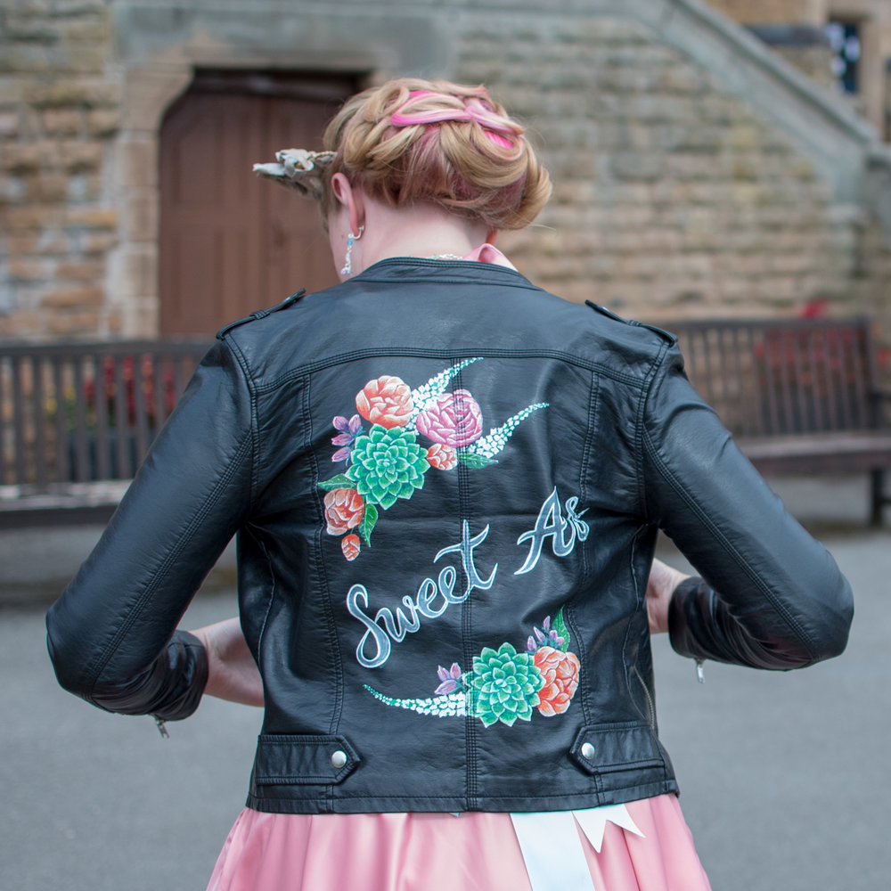 Painted Leather Jackets by Ophelia Rose - Photo by Dave Fuller