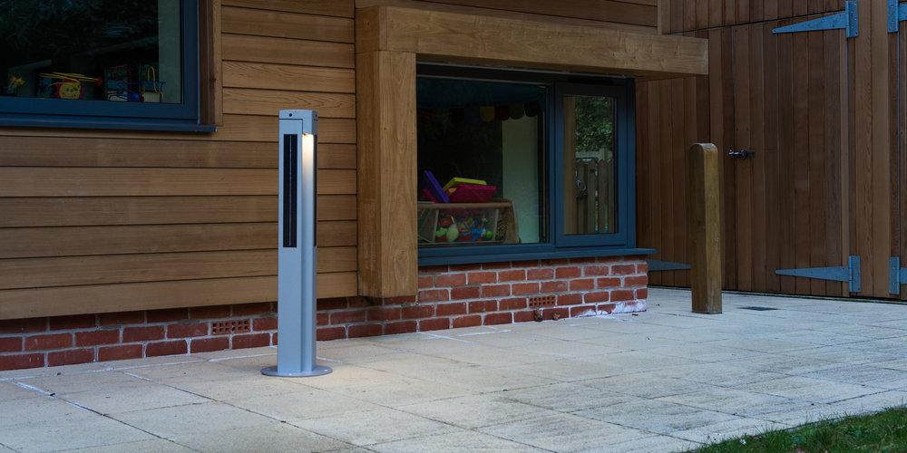 Solarpost Bollard installed at a school