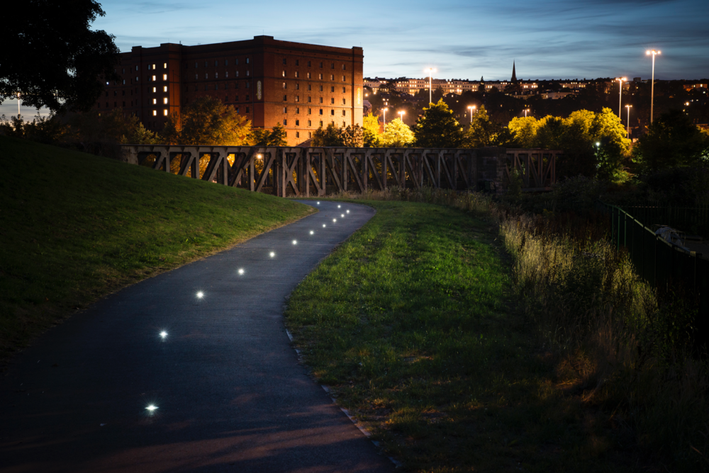 Solar Lighting Spotlight Path