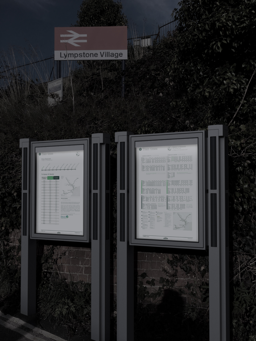 The Solarcase - Solar-powered display cases to illuminate information overnight