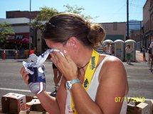 Sometimes marathons make a girl cry.