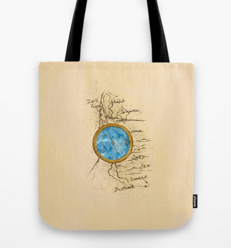 Rebel Compass Tote Bag
