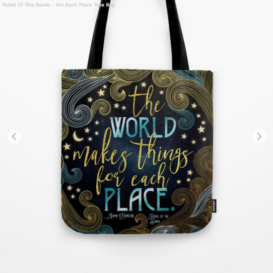 Rebel of The Sands Quote Tote