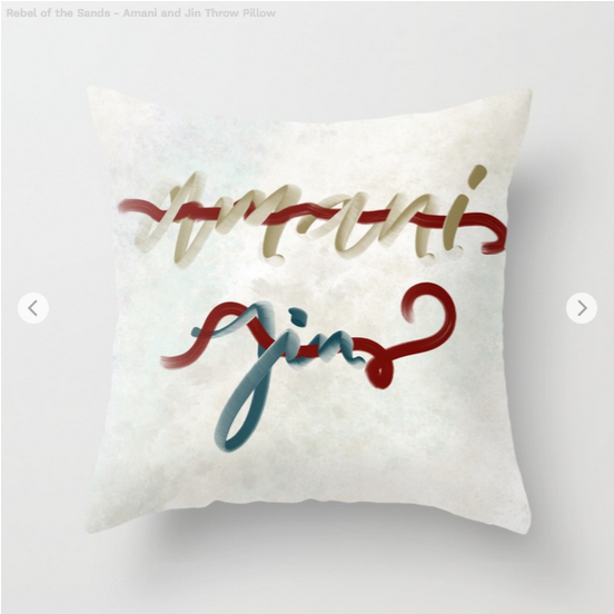 Rebel Caligraphy Pillow