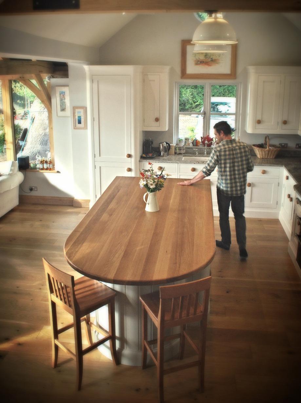 bespoke oak kitchen island/work top