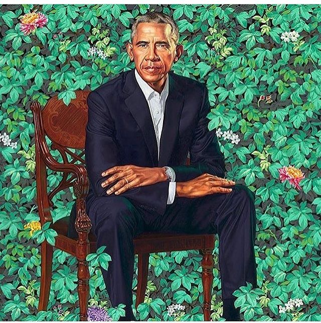 Botanical vibes all the way. #obama