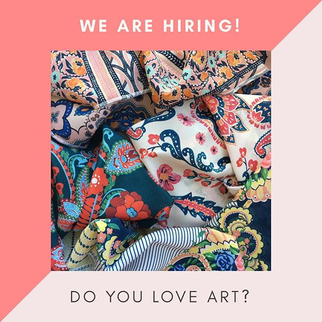 Hey Designers. We are looking to hire freelancers and interns. **Freelancer Cad artist- have knowledge of Illustrator and Photoshop for print compositions. **Freelance Sketch artist- able to use various mediums to create one of a kind artwork. **Interns- passion for textile art. Email info@sogestudio.com