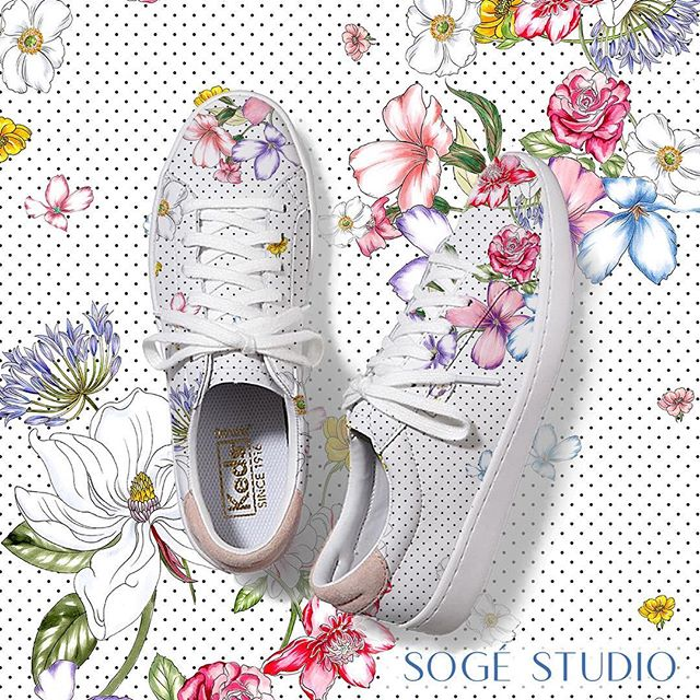Imagining what a SOGÉ STUDIO print would look like on a pair of @keds in the Spring .