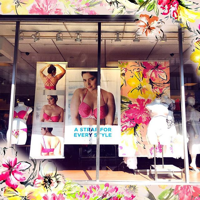 Window shopping anyone?  Spotted this SOGÉ painterly floral in NYC