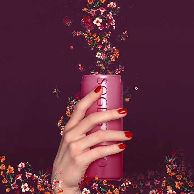 Drink it up #ditsy flowers