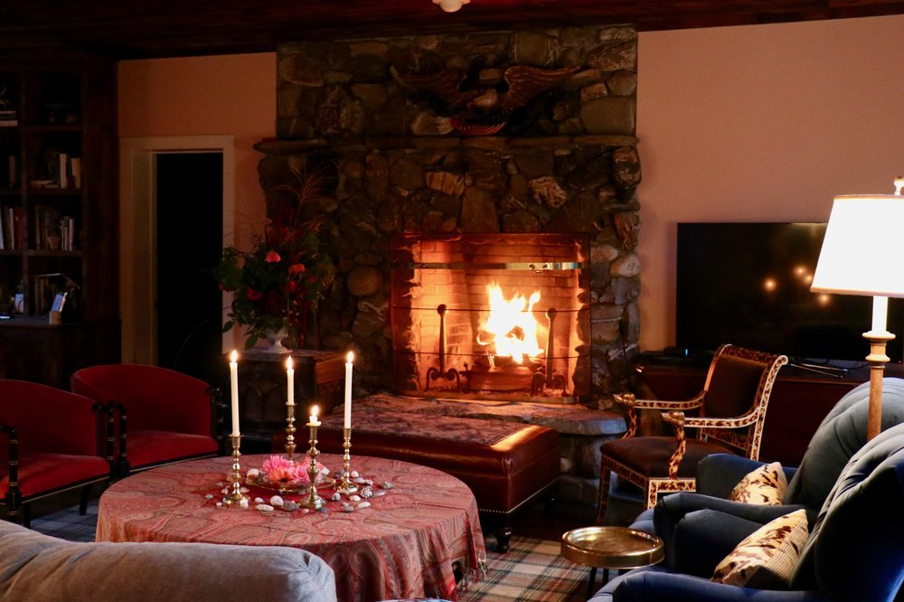 Velvet, Cashmere, and a warm fire. I can not think of a better way to welcome Fall to the country.