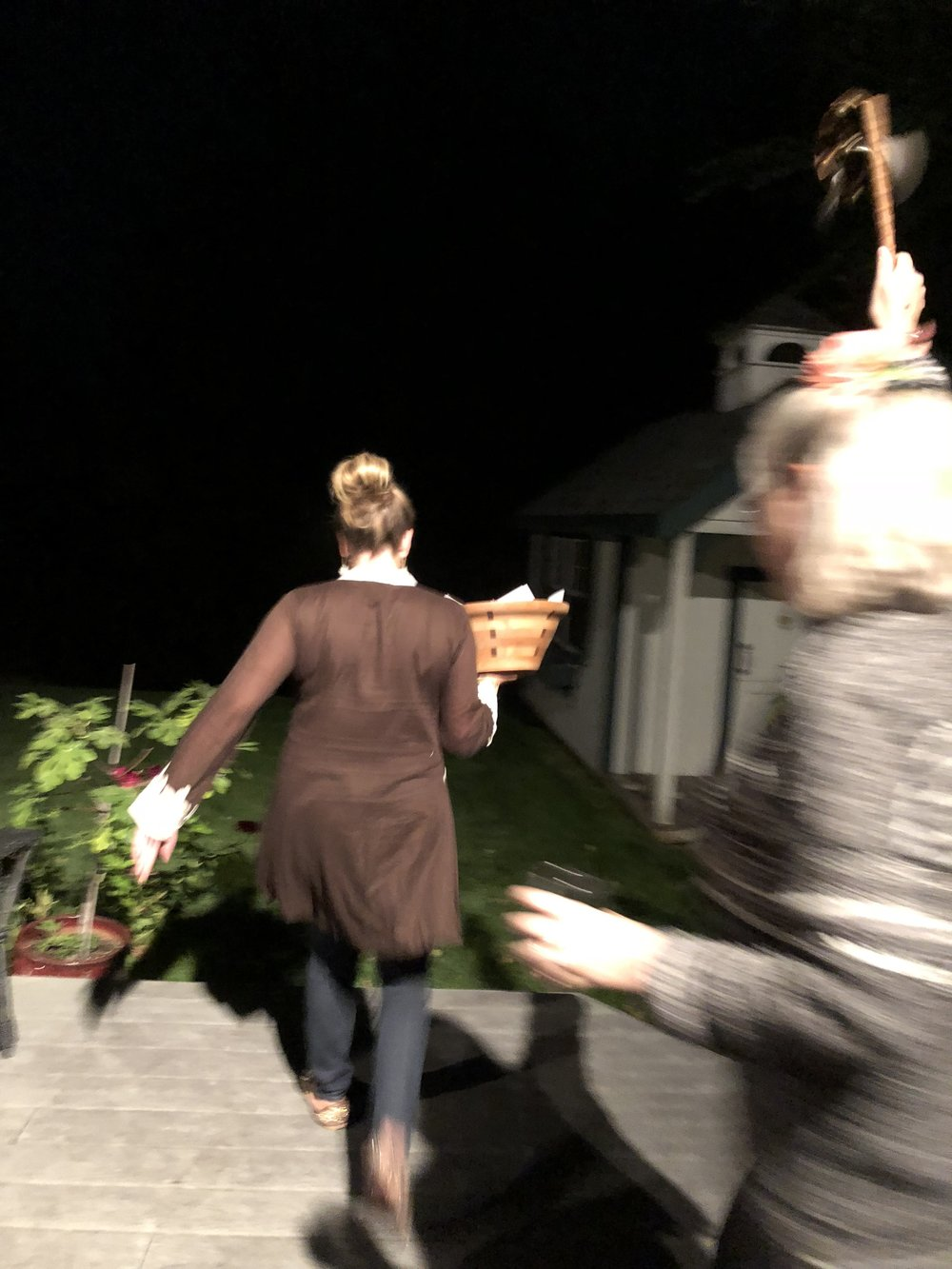 Amy leads the charge as Caren leads the revelry. Our dreams and wishes come with us!