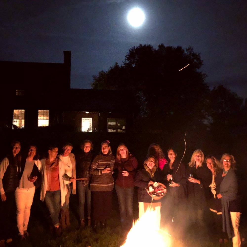 """""""... a full moon shimmered over (Southern Vermont). This was no rinky-dink moon. This was a moon you had to curtsy to. A big, heavy, mysterious, beautiful, bossy moon. The kind you want to serve things to on a silver platter.""""  ―  Rebecca Wells author Divine Secrets of the Ya-Ya Sisterhood"""