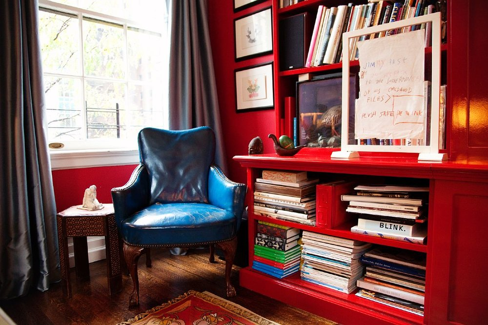 Is that chair not the absolute most gorgeous blue?????? photo by The Selby