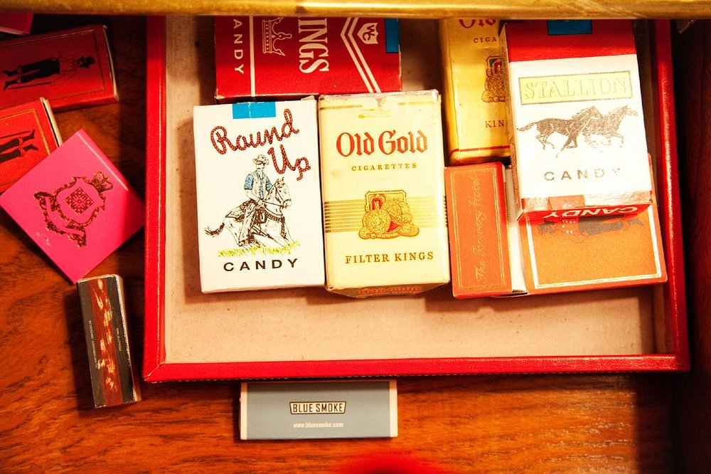 As a recovering cigarette aficionado I LOVE this. I smoked many a candy cigarette as a child with my grandmother at Shraffts Ice Cream Parlor in Scarsdale, NY. Photo by The Selby