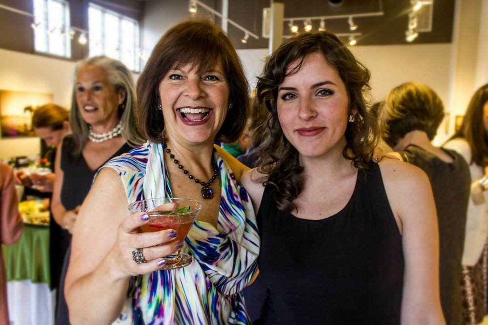 Our amazing hostess welcoming guests and ready for you to join the third Feast of Venus event on May 30th. Let's jump on the bandwagon and join Lisa in raising money and awareness about hunger in Vermont.