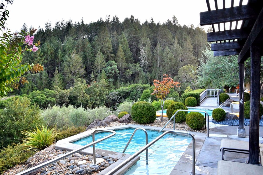 View of spa pools at Auberge du Soleil