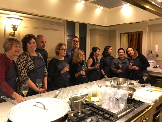 Me and my group, learning how to make pasta in Rome
