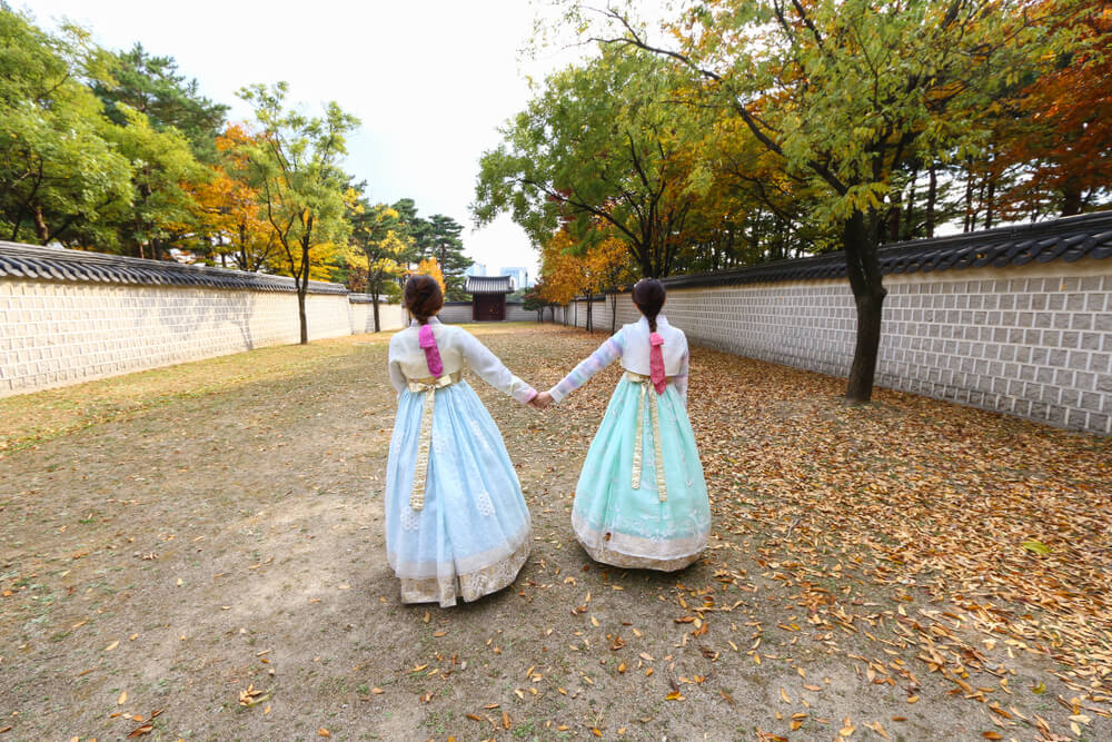 Outside Gyeongbokgung Palace  Photo Credit: Shutterstock