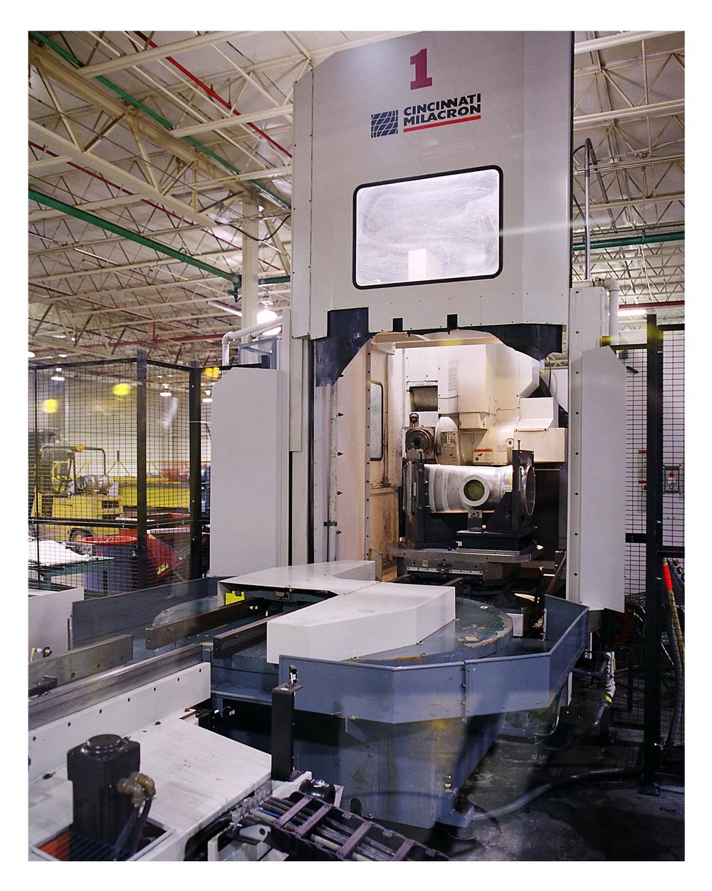 Flexible Manufacturing Cell - Cincinnati Milacron T35 & T40   Work Space – 64 in x 60 in  Weights up-to 5,500 lbs.  2,800+ Machine Hrs/Mo.