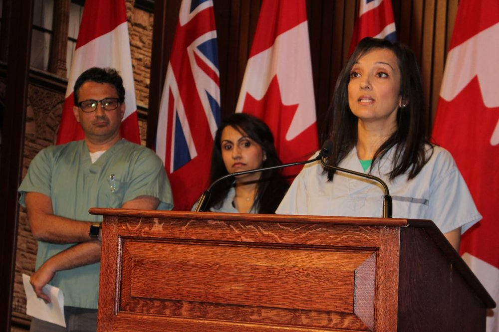 Dr. Lamba - Pictured at a Concerned Ontario Doctors event