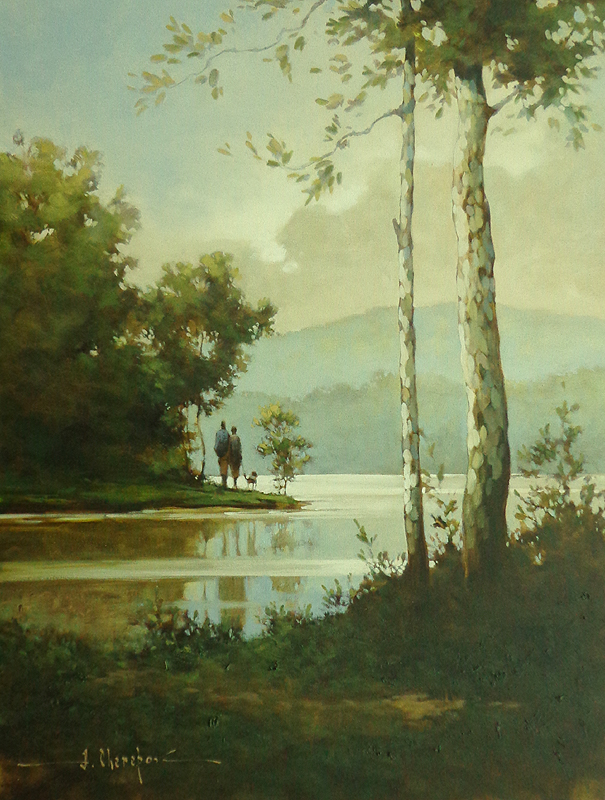 By the River 30x40