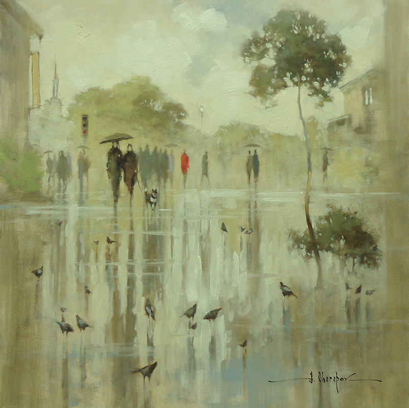 Rain in the City 36x36