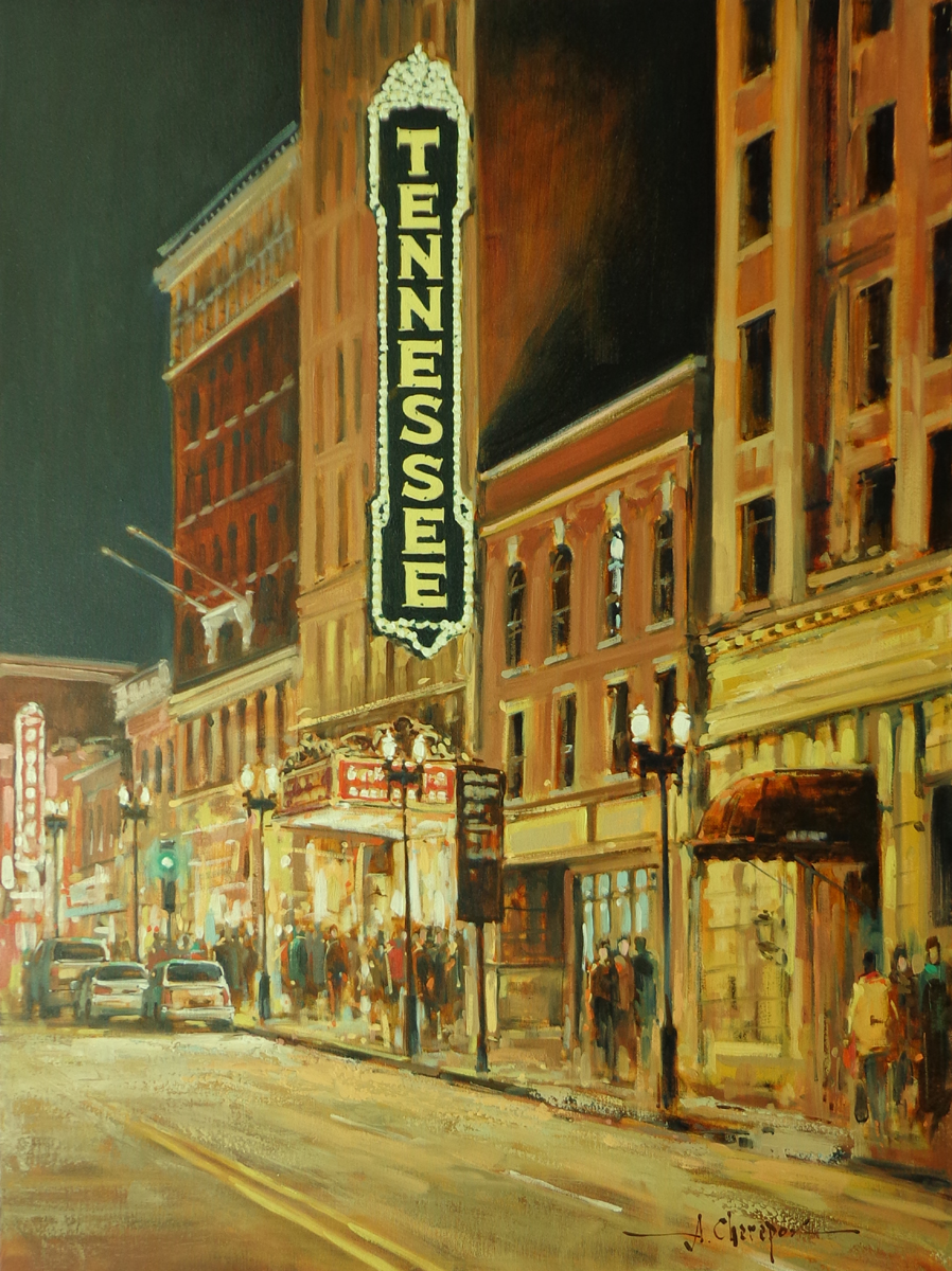 Gay Street's Lights|30x40