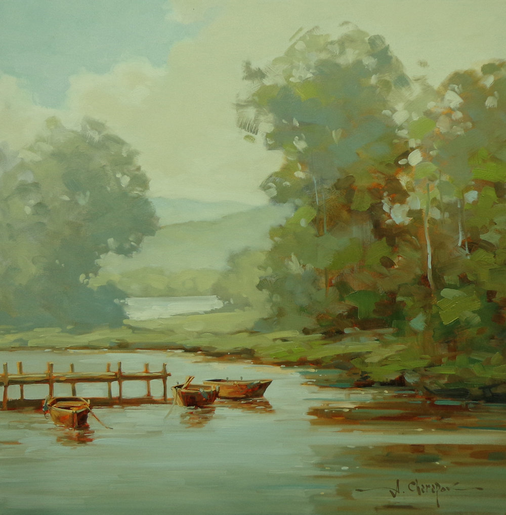 Boats on the River|30x30