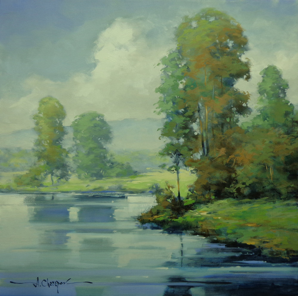 On the Bank of Blue River|30x30