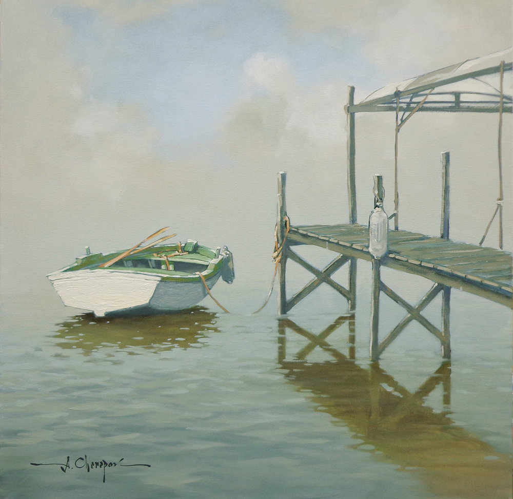 Early Morning at the Dock|30x30
