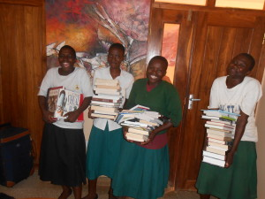 AIS brought lots of books with them to update SEGA's library – Thank you to all the schools who generously contributed!