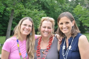 Above: Drumming party & Kendall Webb,Ashley Moran, Andrea Metchick (Connecticut Regional Committee)
