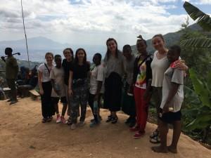 MEGA and SEGA Girls on the Hike! From Left -Tatum, Debrah, Angie, Penelope, Maria, Zoe, Anyesi, Sarafina, Lissy, and Amina