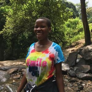 Sarafina at the waterfall