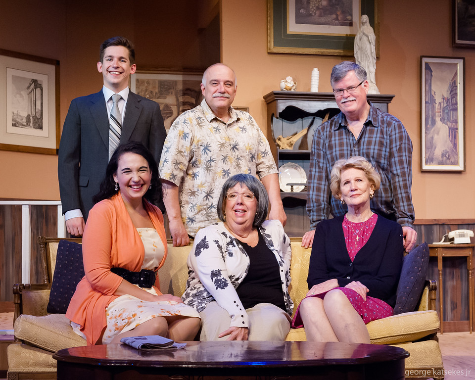 """The cast of Sunset Playhouse's """"Over the River and Through the Woods"""" features, from left top, Ben Braun, Raffaello Frattura, Scott Kopischke, bottom, Deanna Strasse, Linda Wirth and Joan End."""