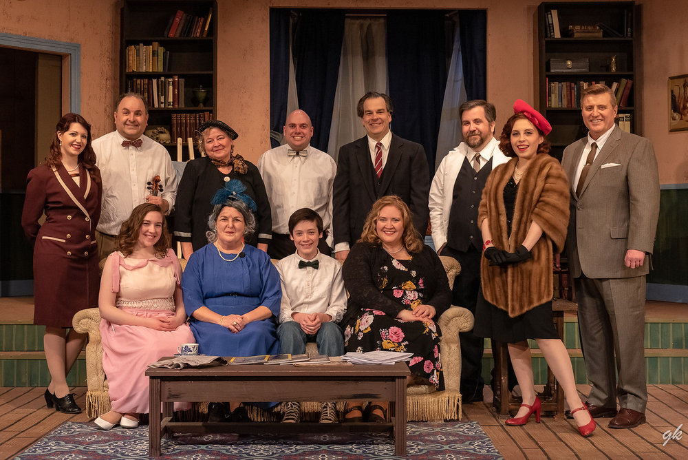 "The cast of Sunset Playhouse's ""The Curious Savage"" includes, from left, front, Kristen Carter, Paula Garcia, Casey Westphal, Sandra Baker-Renick, back, Jacqulin Dubinsky, Scott Korman, Diane Kallas, Kerry Birmingham, Jim Mallman, Cory Klein, Becky Cofta and Jim Stahl."