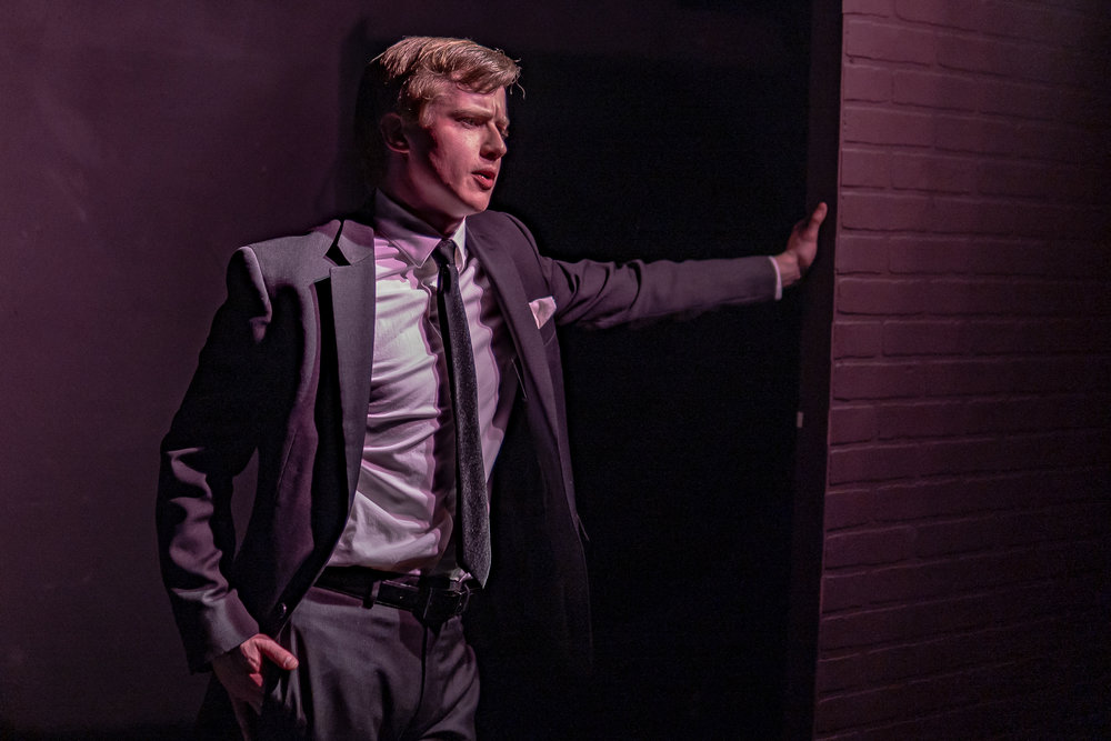 """A.J. Magoon is featured in Theatre Nervosa's one-man show """"Thom Pain.""""  Photos by Lily Shea"""