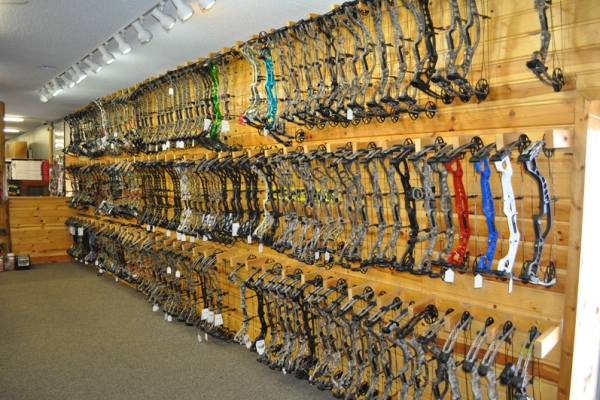 This wall alone contains more bows than I've ever seen at one time in a big box store!