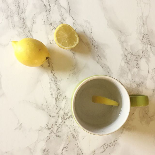 Rolling into Monday with a nice healthy cup of lemon water followed swiftly by a vat of coffee. Happy Monday all! #itshealthybutitsnotcoffee #sotiredtoday #happymonday #letsdothis