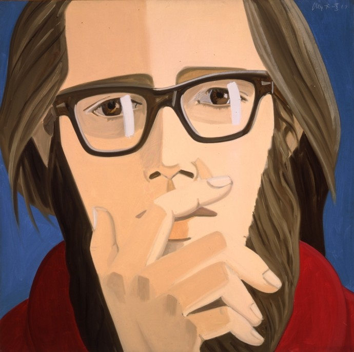 "Alex Katz, ""Ted Berrigan,"" 1967"
