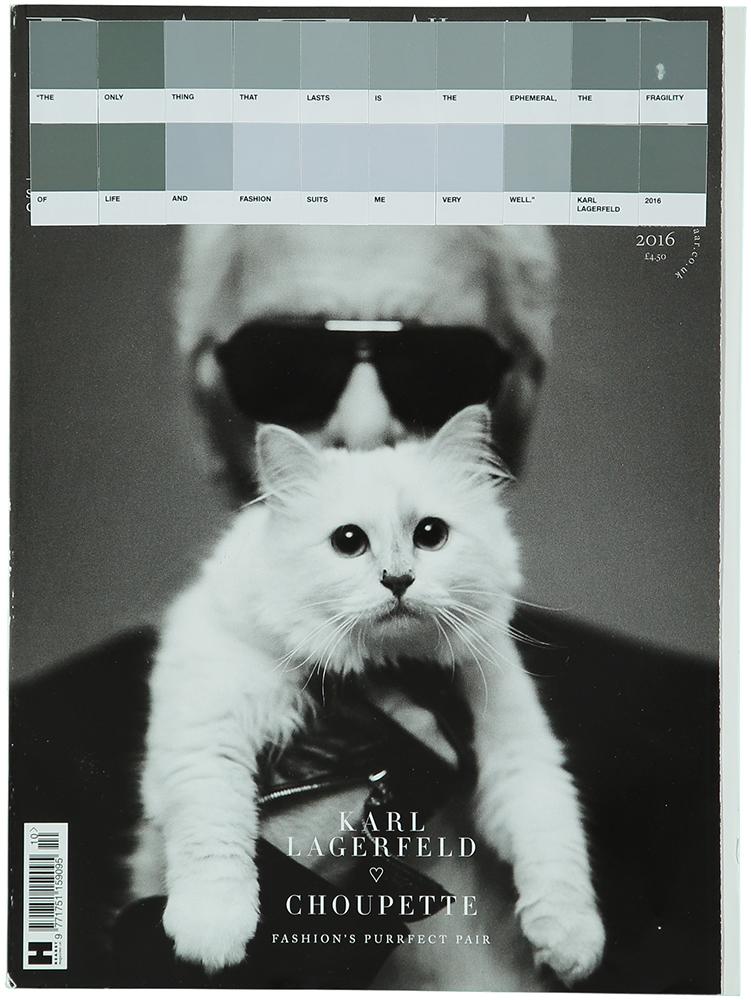 Karl Lagerfeld, Harper's Bazaar, 2016