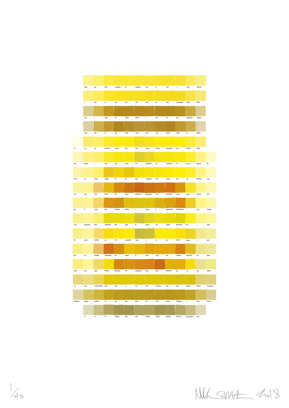 Psalm 16 - Colmans Mustard