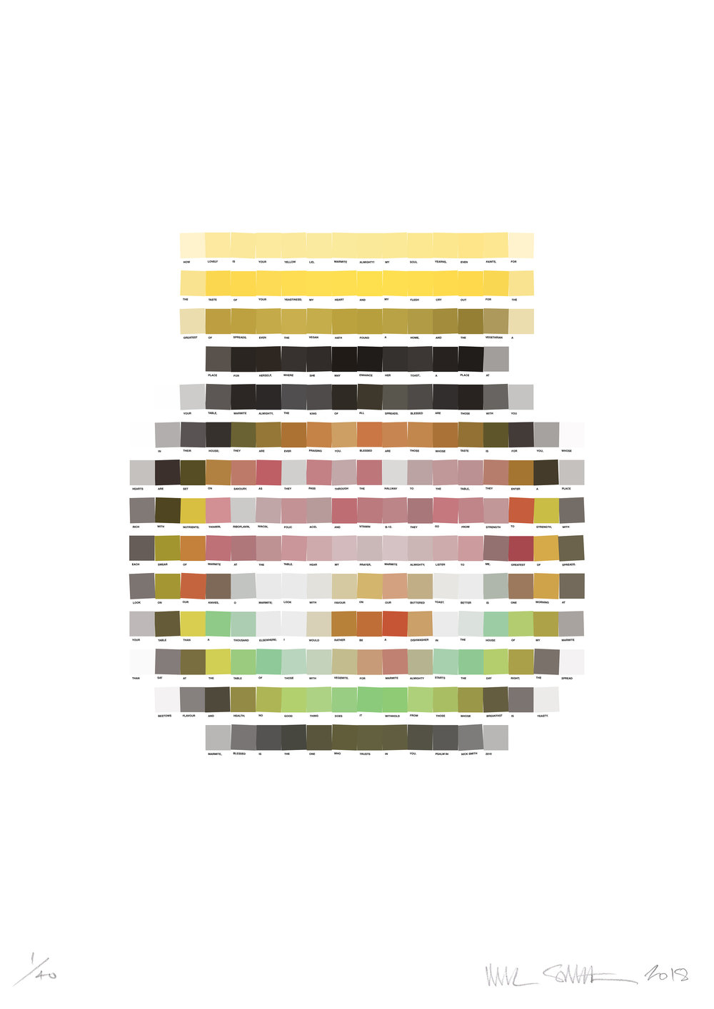 Psalm 84 - Marmite