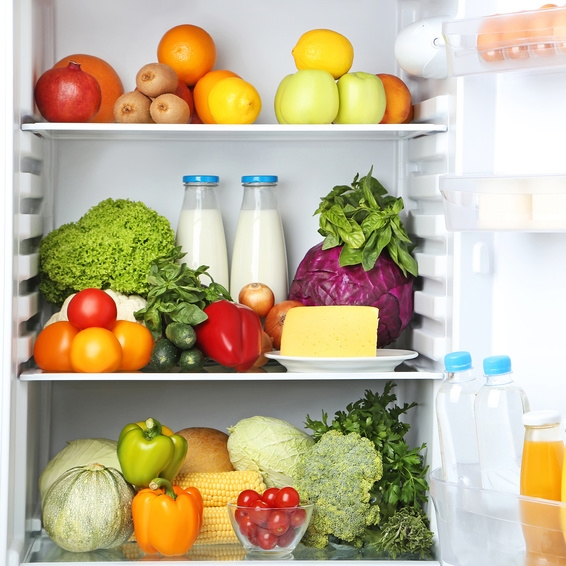 Fridge with fruits and veggies © 5second.jpg