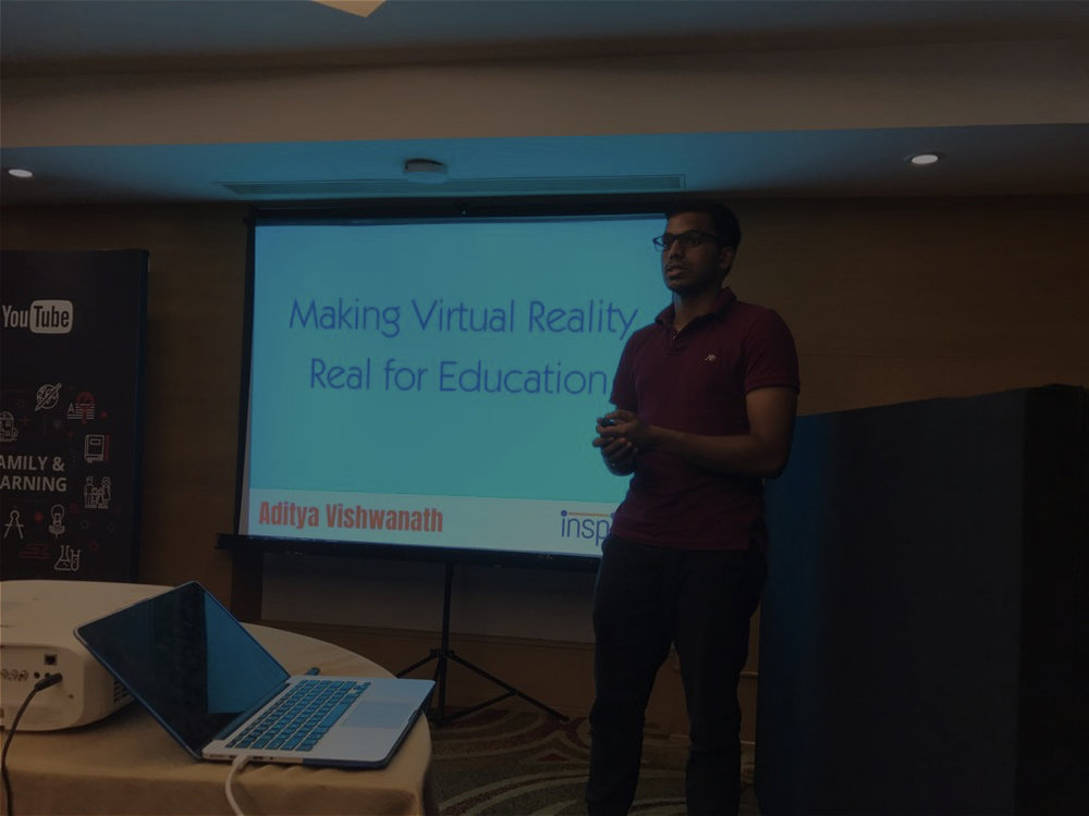 YouTube India Talk - Presented a talk on VR content creation to top film studios and content creators in Chennai, India