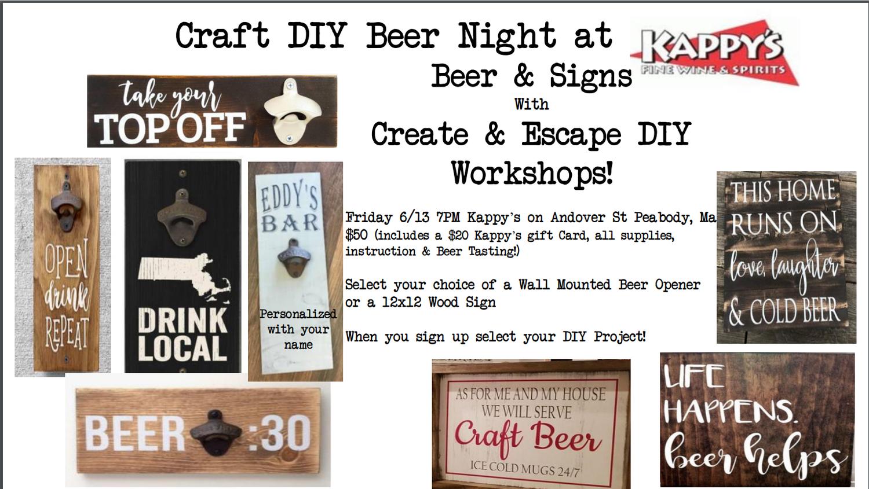 6 13 18 Craft Diy Beer Night At Kappy S 7 Pm