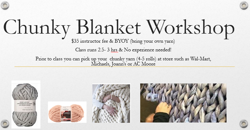 Hand Knit Throw Workshop-sold out — Create & Escape DIY Workshops
