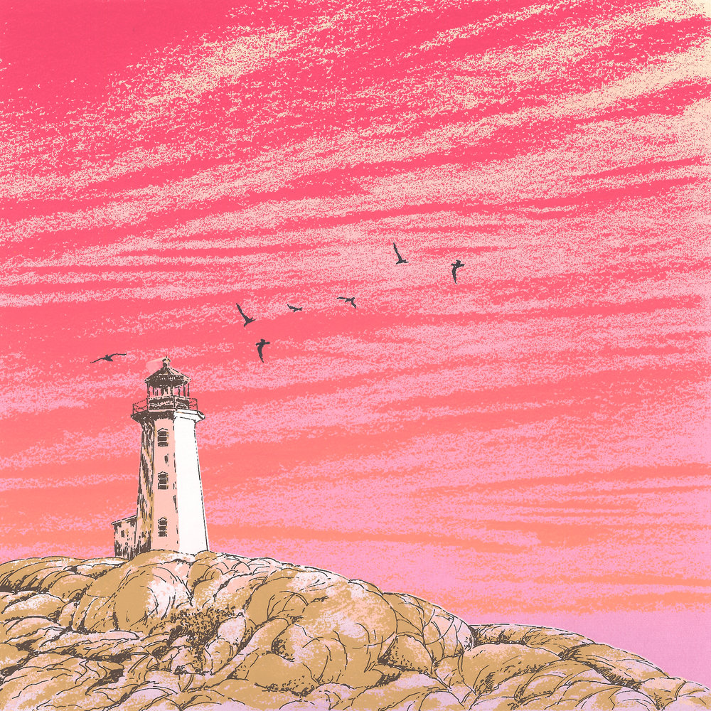 "229   Lighthouse 1   20"" x 24"" 10 colors 25 edition / 15 available $200"